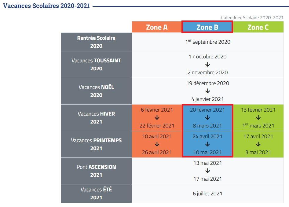 Calendrier 2021 2022 école Calendrier scolaire 2020/2021 et 2021/2022 – École Roger Marcotte